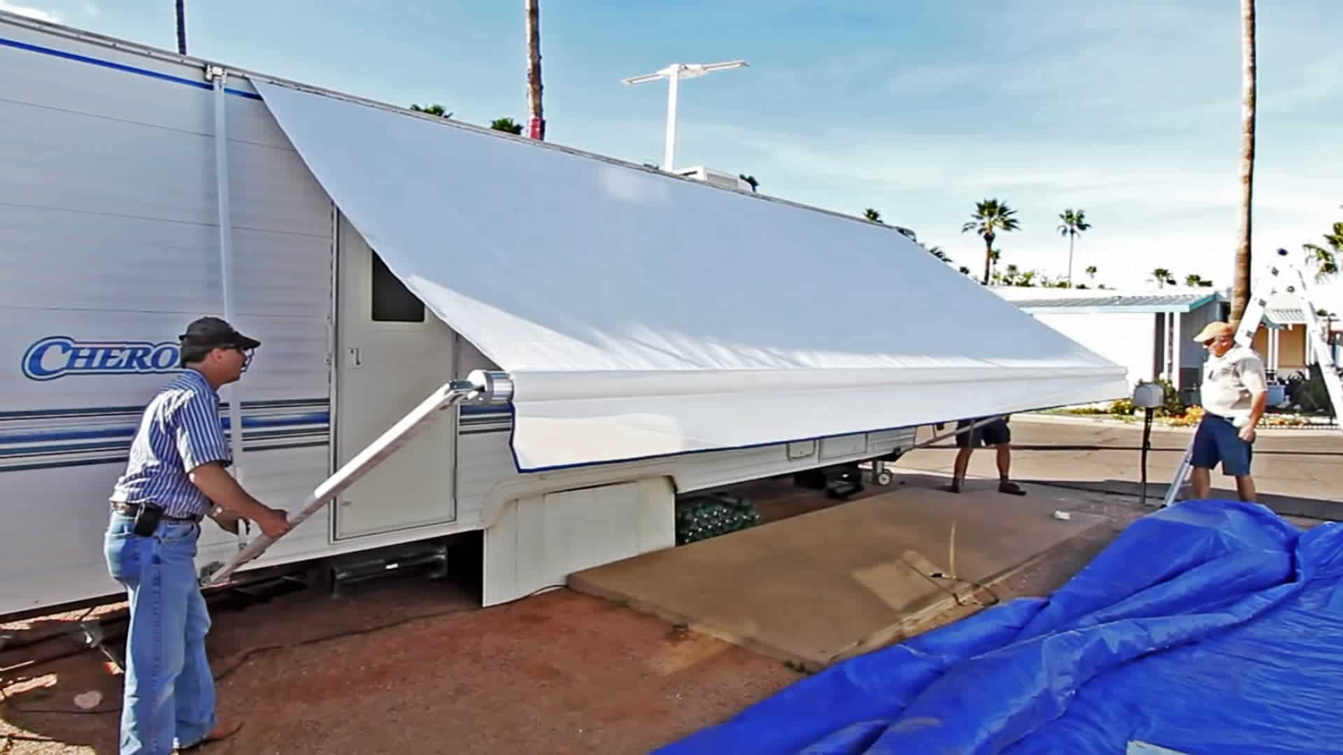How To Replace an RV Patio Awning - TheRVgeeks