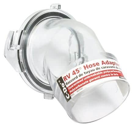Camco Clear 45 Degree Hose Adapter Sewer Fitting