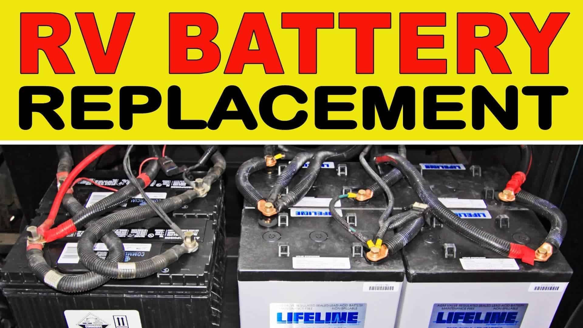 how to replace rv house batteries chassis batteries. Black Bedroom Furniture Sets. Home Design Ideas