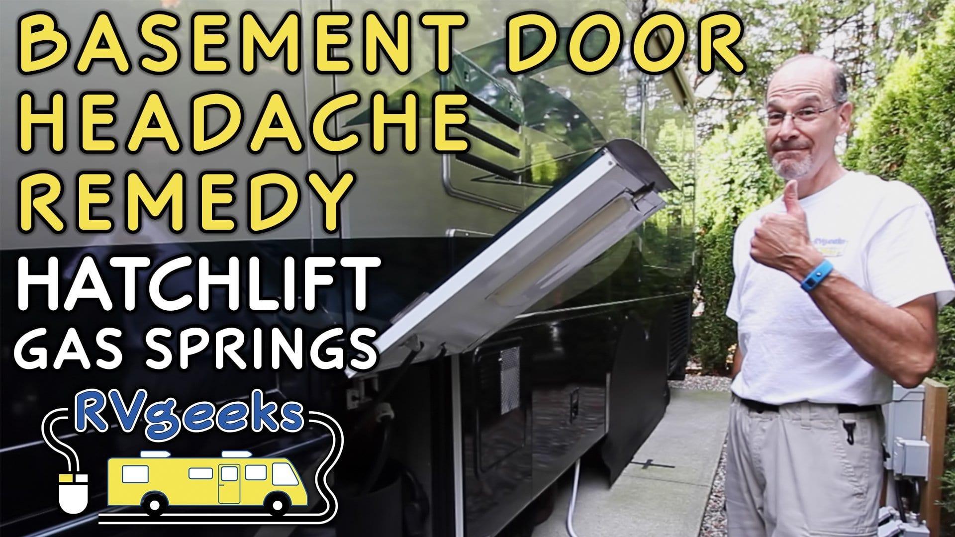 RV Basement Door Lift Springs Prevent Headaches!