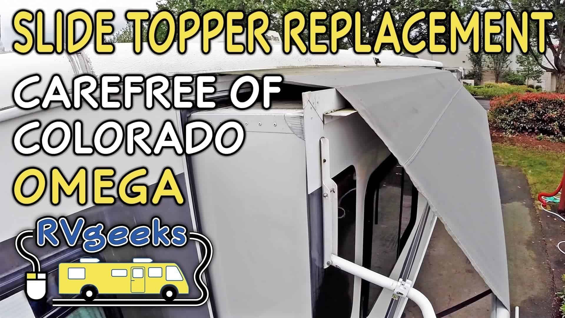 Carefree Of Colorado Omega Slide Topper Fabric Replacement