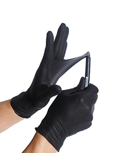 Infi Touch Heavy Duty Black Nitrile Gloves 9 5 Quot Length