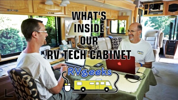What's Inside Our RV Technology Cabinet? Geek Tech!