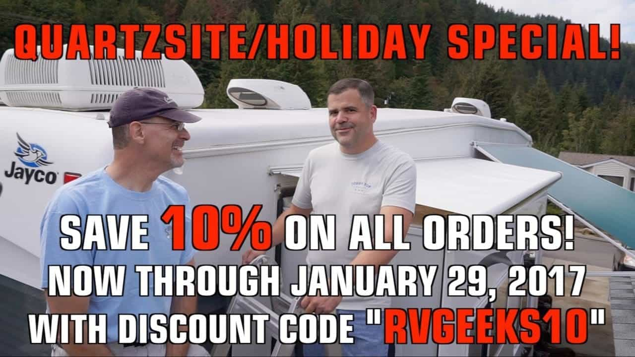 DOUBLE Slide Topper & Awning Discounts, Installation Tips + RVgeeks Quartzsite Appearance!