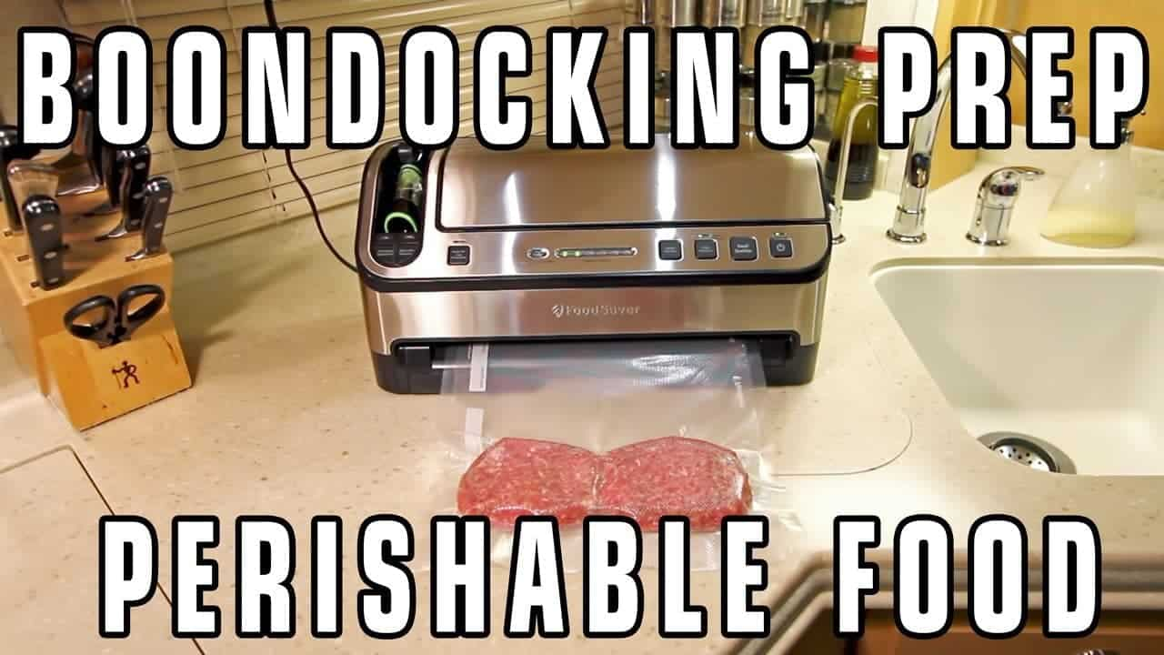 Boondocking Resource Management: Perishable Food