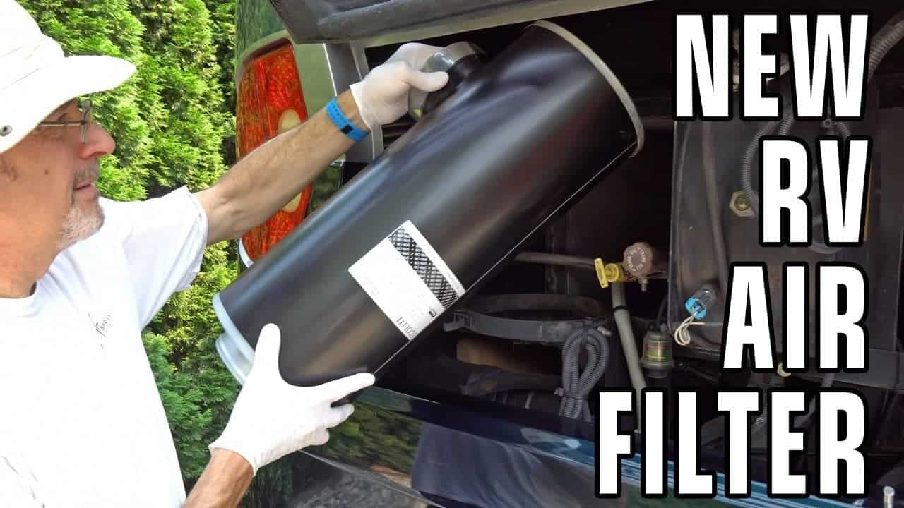 Replacing The Air Cleaner in our Diesel Pusher RV + Tow Bar Giveaway Winner!