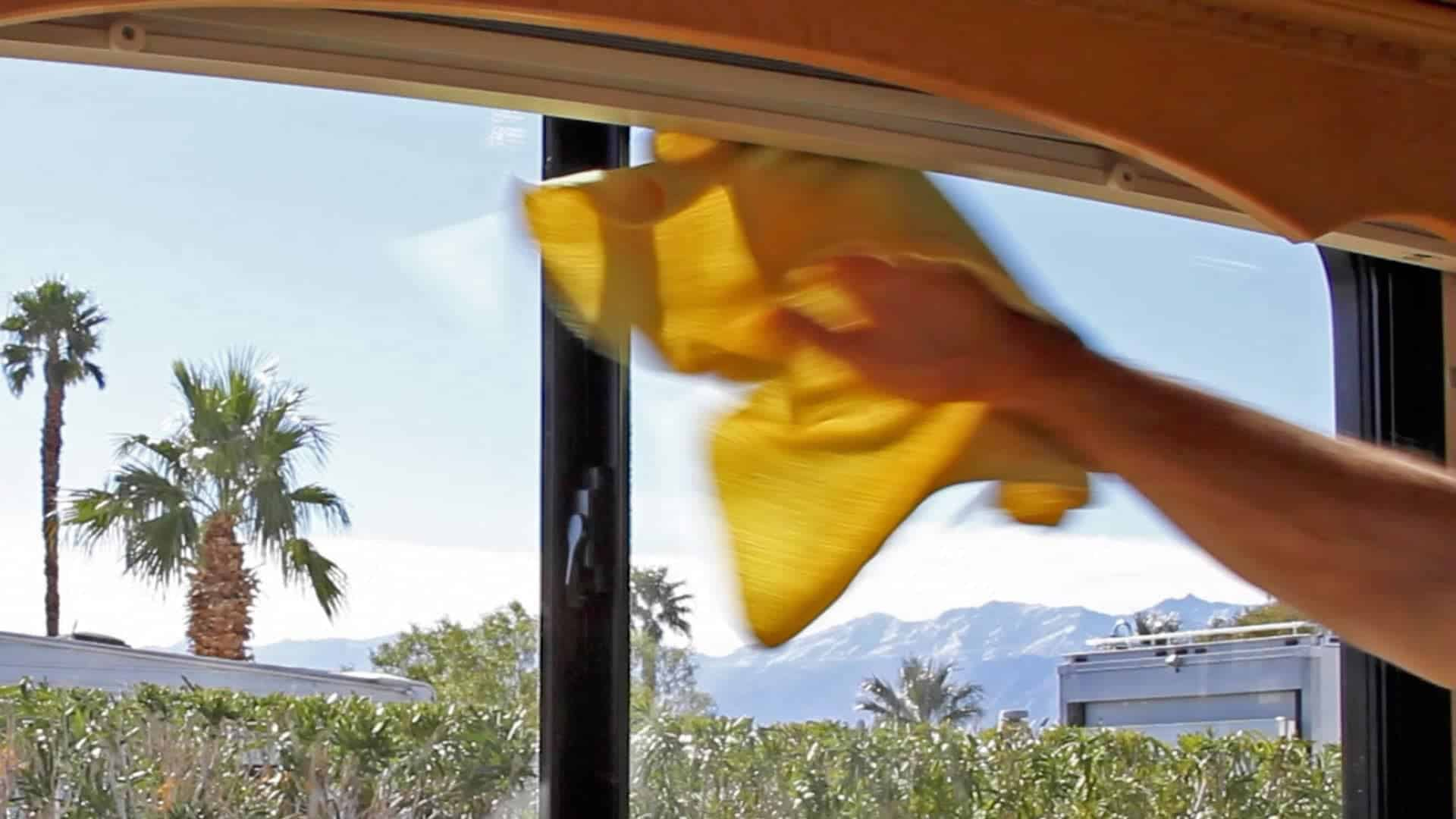 Clean Your RV Windows & Mirrors Super Fast (no window cleaner needed!)