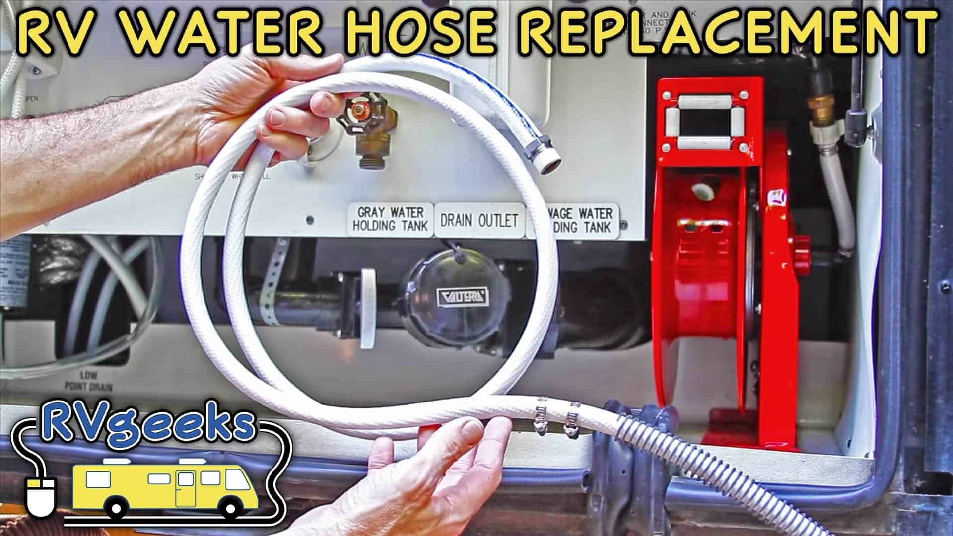 Replacing an RV Drinking Water Hose on a Retractable Reel