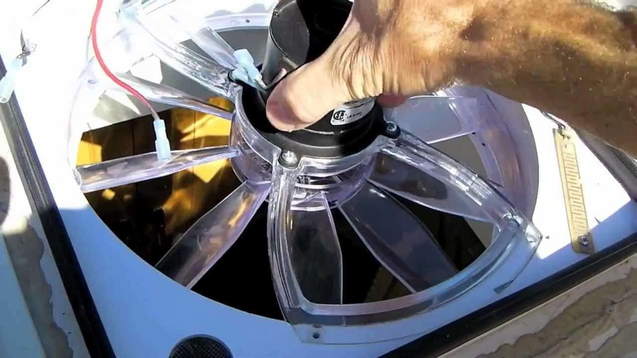 Super Cleaning an RV Vent Fan
