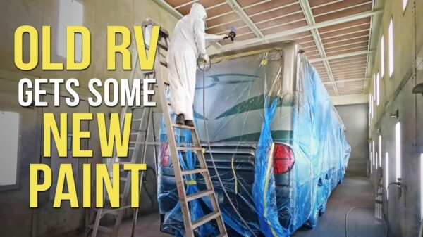 Goodbye to FLAKING RV PAINT! Roof Radius & End Cap Re-Painting.