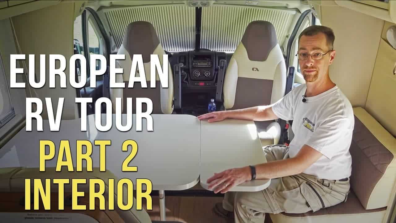 Italian RV/Motorhome Tour – Part 2: Interior