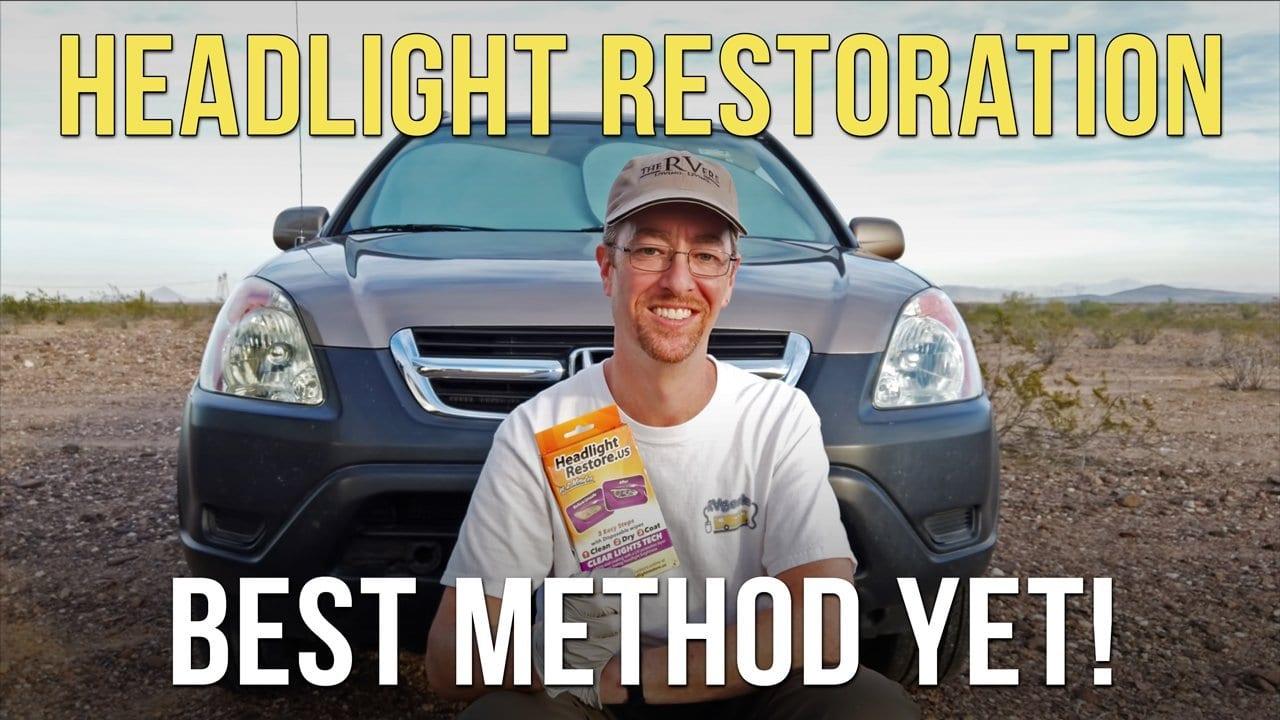 Headlight Restoration — Best method yet for restoring plastic headlight lenses