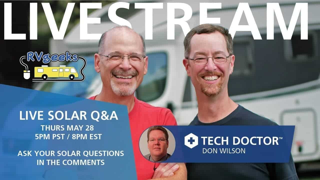 Join us for an RV Solar Webinar! Live Q&A with Xantrex Tech Doctor Don Wilson