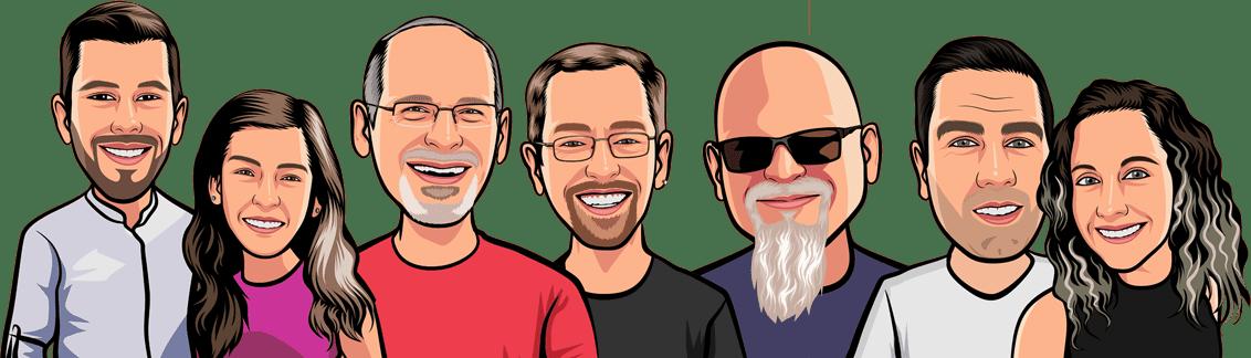 The RVers-Cast-Cartoon