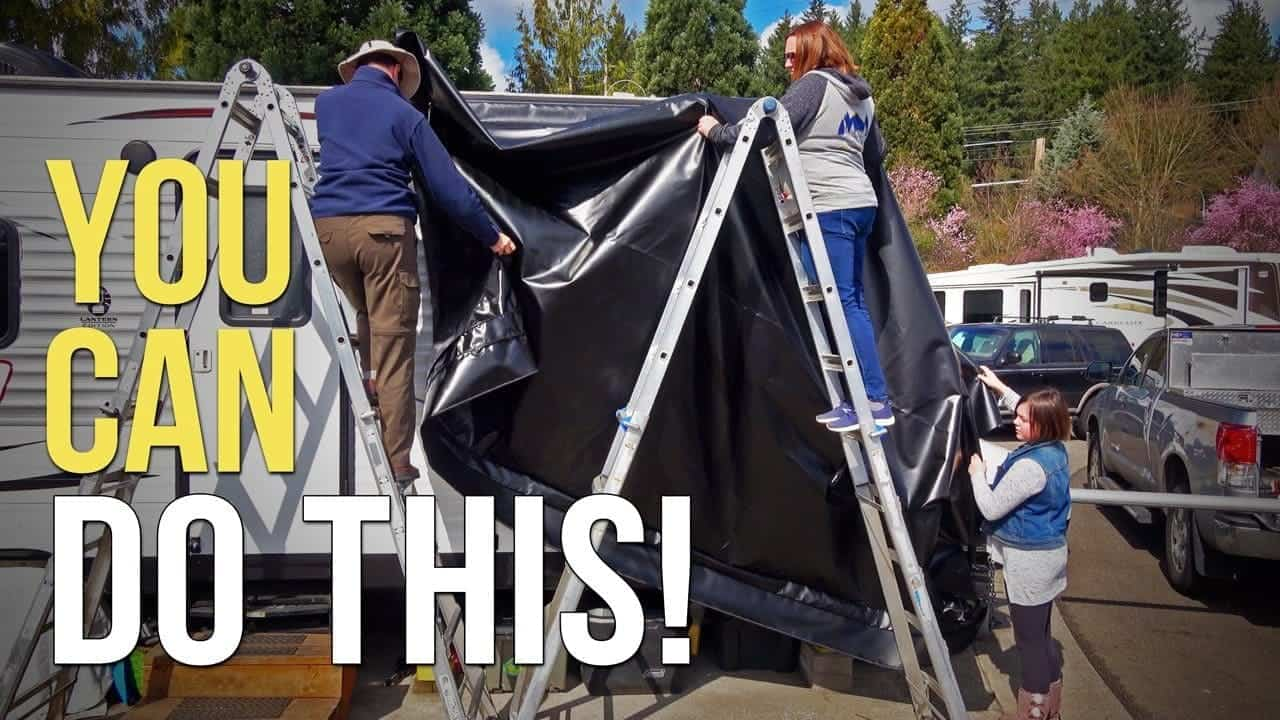How To Replace RV Patio Awning Fabric — Carefree of Colorado Power Awning