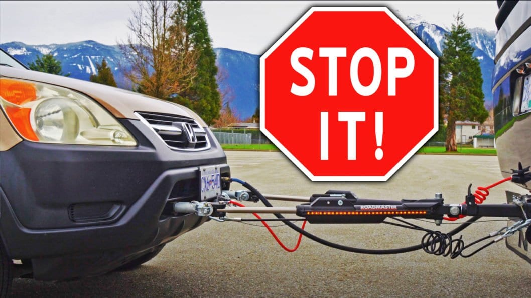 RV Towed Car Auxiliariary Braking System - Roadmaster Invisibrake