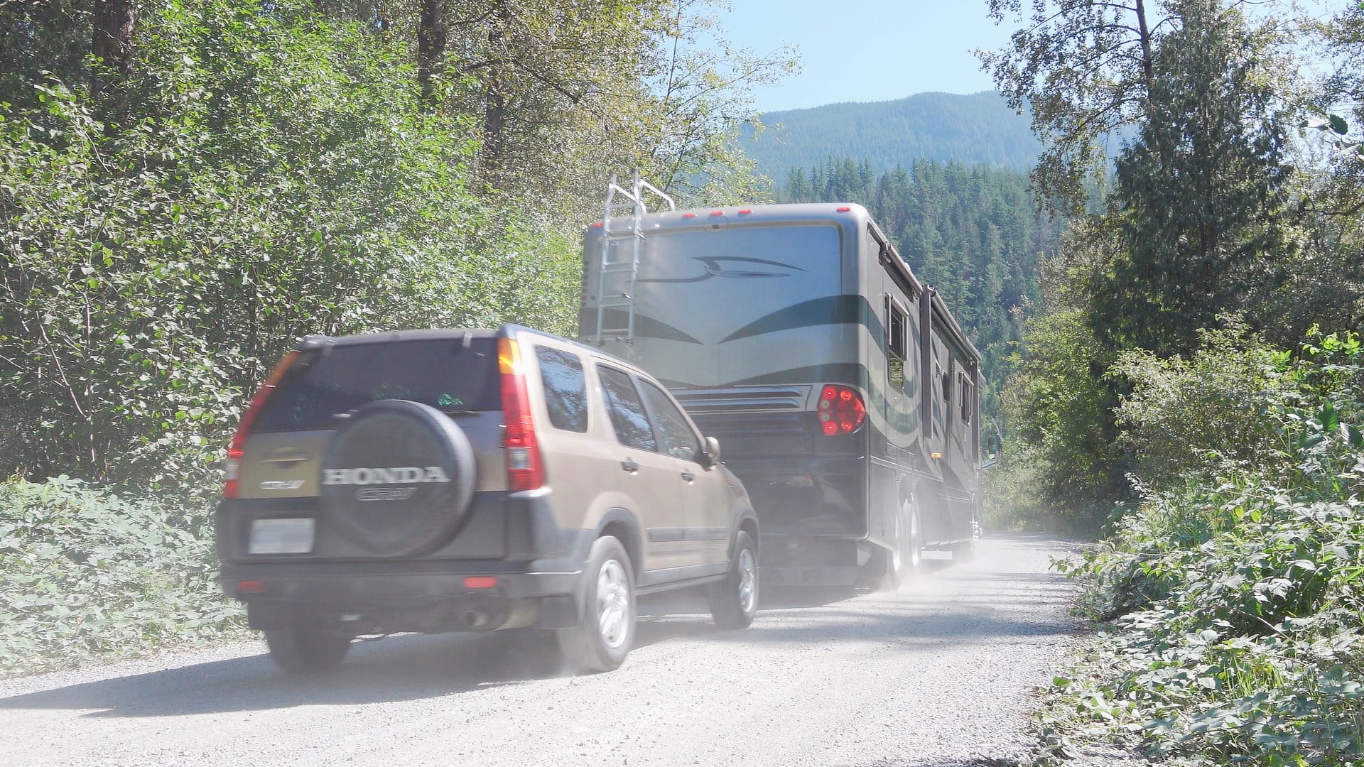 Towing our SUV behind our RV