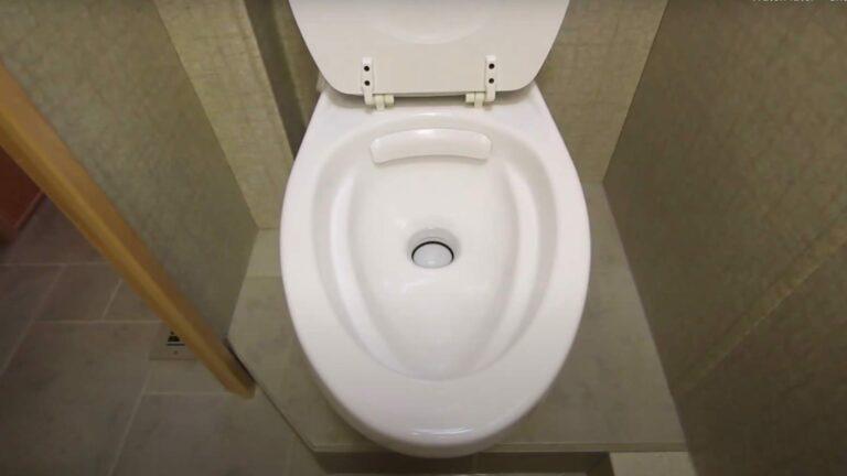 Gravity flush RV toilet