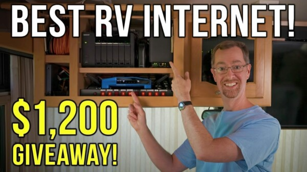 Our RV Internet Solutions for 2021: Upgrading Our Tech Cabinet (And $1,200 Giveaway!)