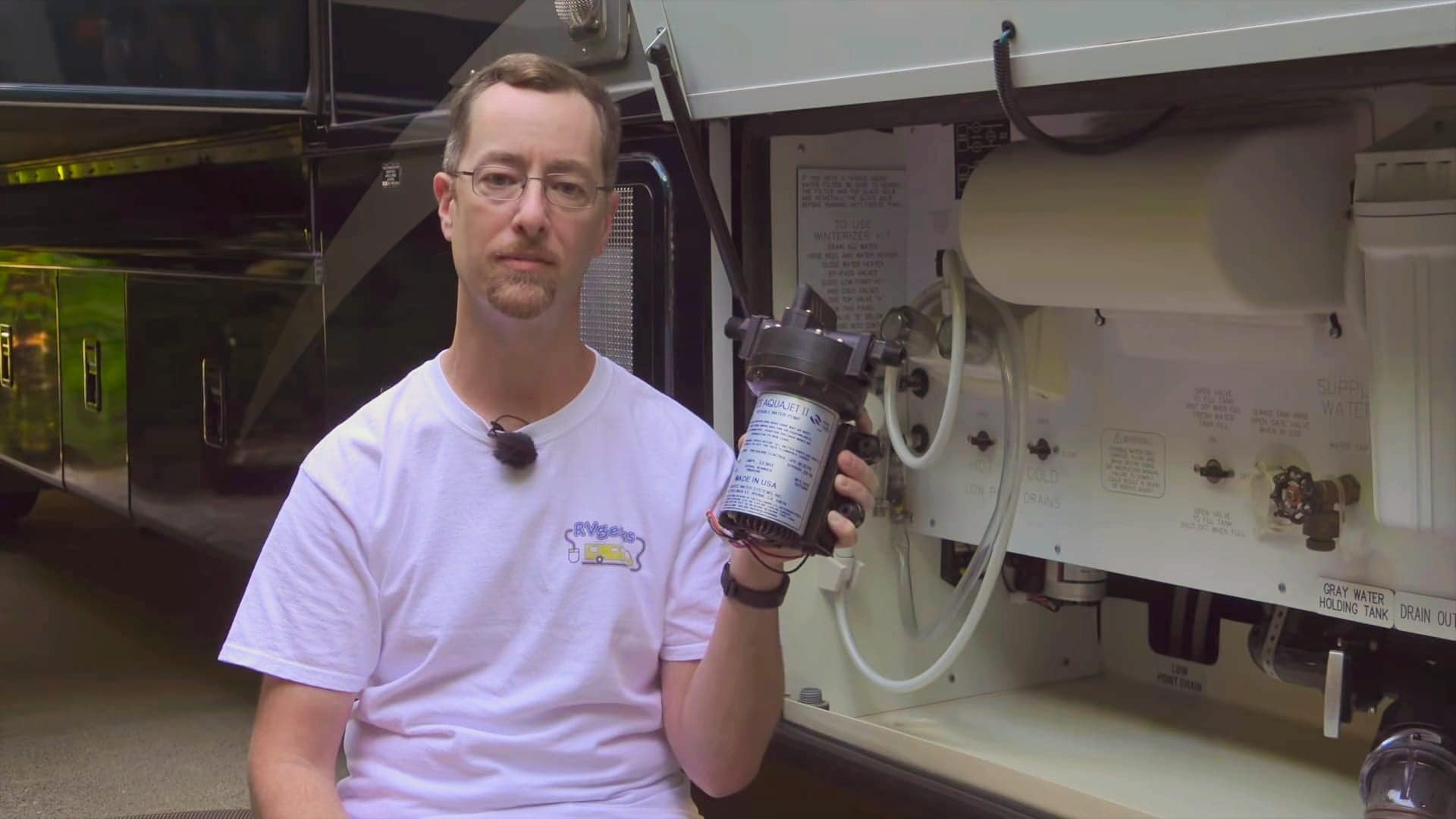 John with our RV water pump