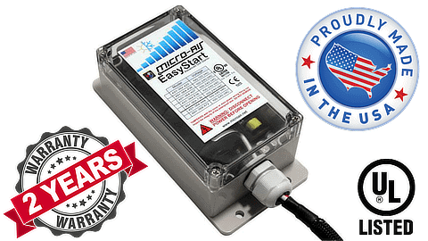 Micro-Air EasyStart 364 with 2 year warranty, UL listing, and made in the USA