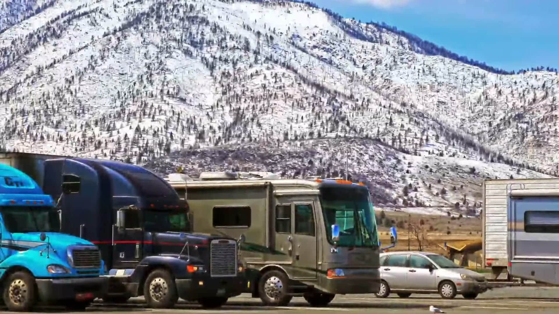 Truck stops offer free overnight rv parking for weary travelers.