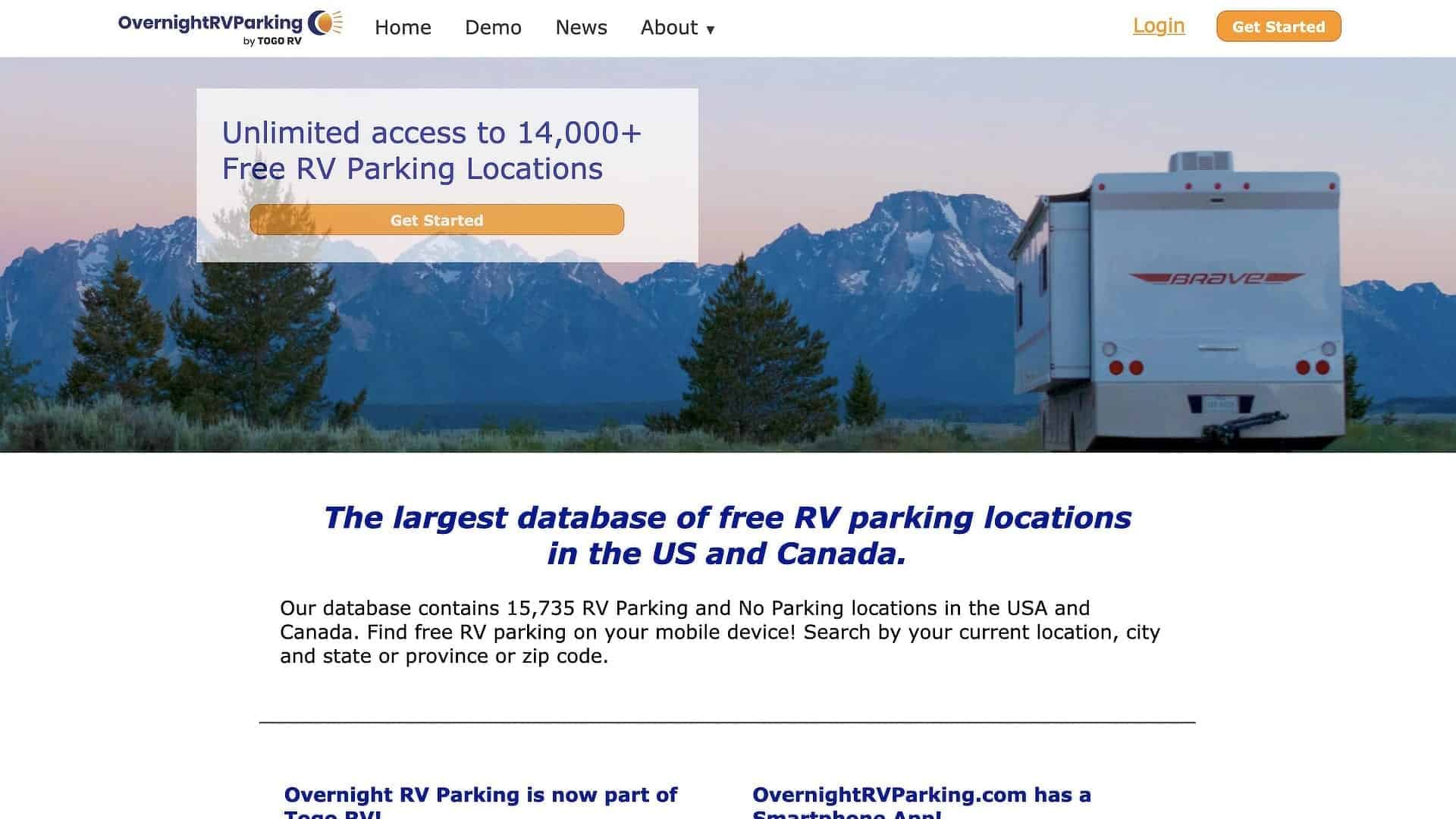 OvernightRVParking.com is a fantastic resource for finding free overnight RV parking spots.