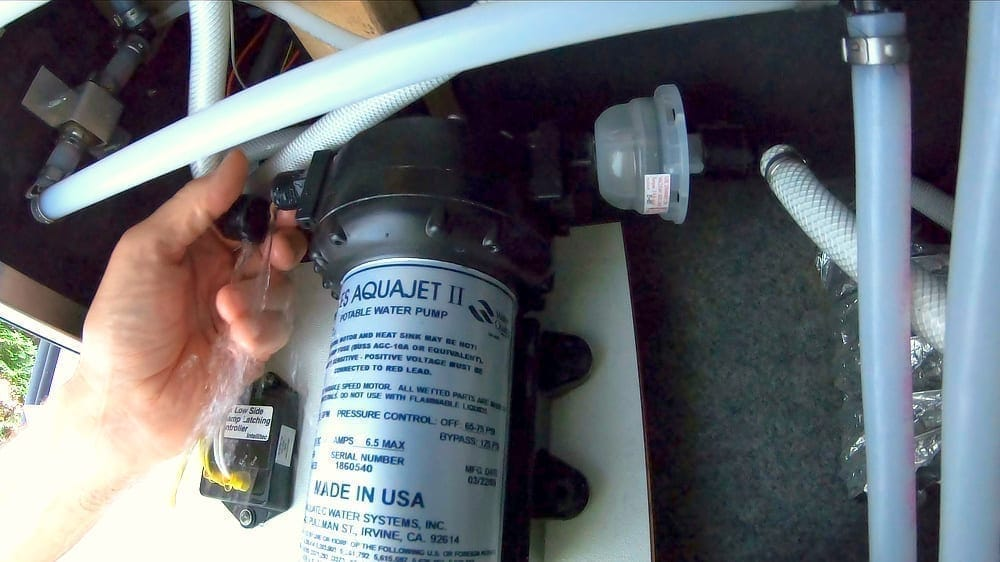 RV Water Pump Replacement