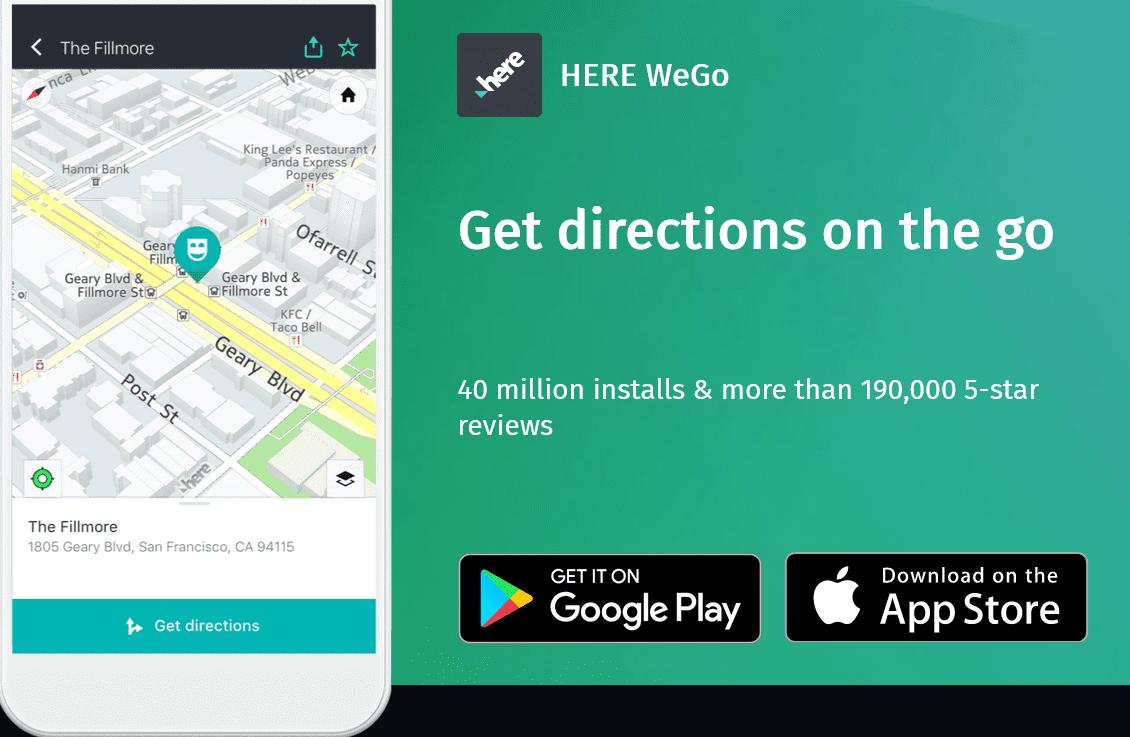 HERE WeGo app... essential tool for the offline trip planner