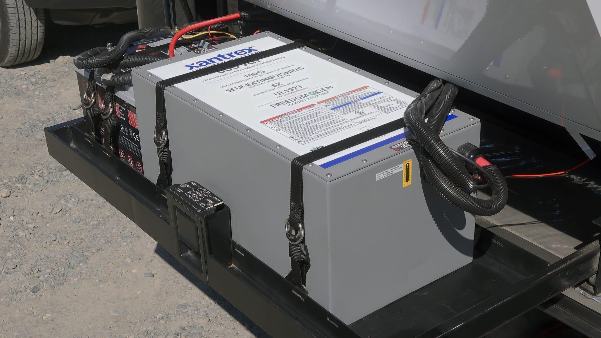 RV inverters change 12V power from batteries to 120V power.