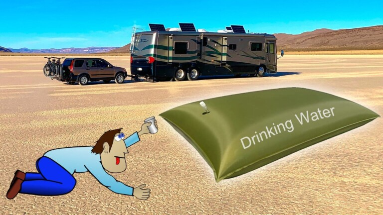 Don't run out of water on your RV... get an RV water bladder.