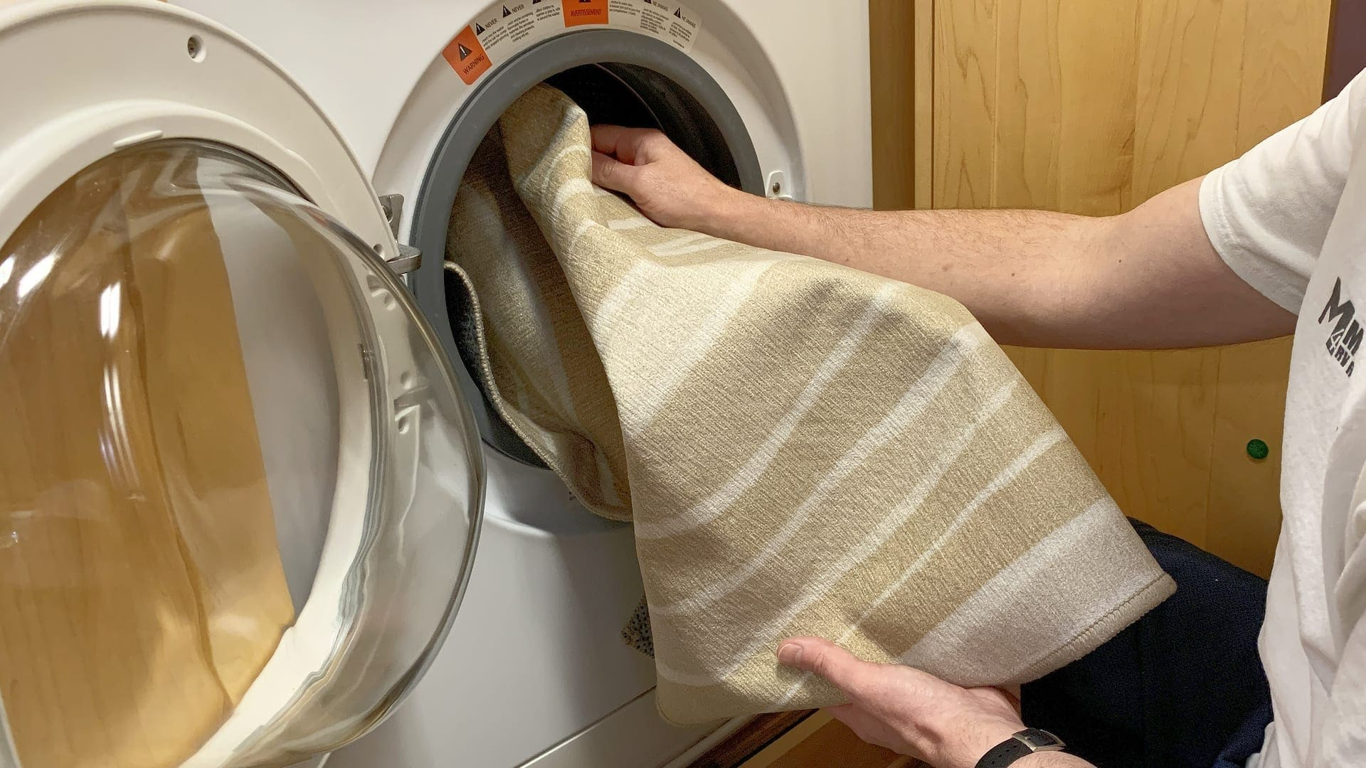My Magic Carpet washable rugs even fit in an RV washing machine