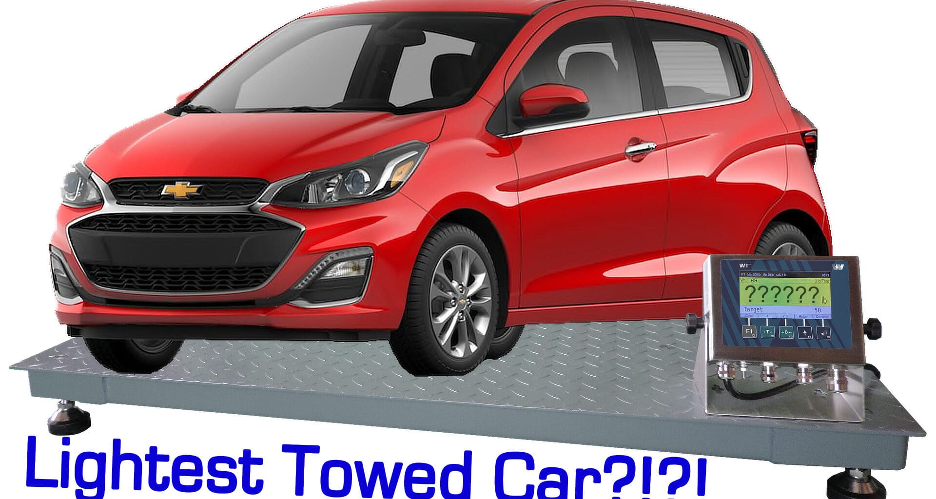 Is the Chevy Spark the lightest car to tow behind a motorhome?