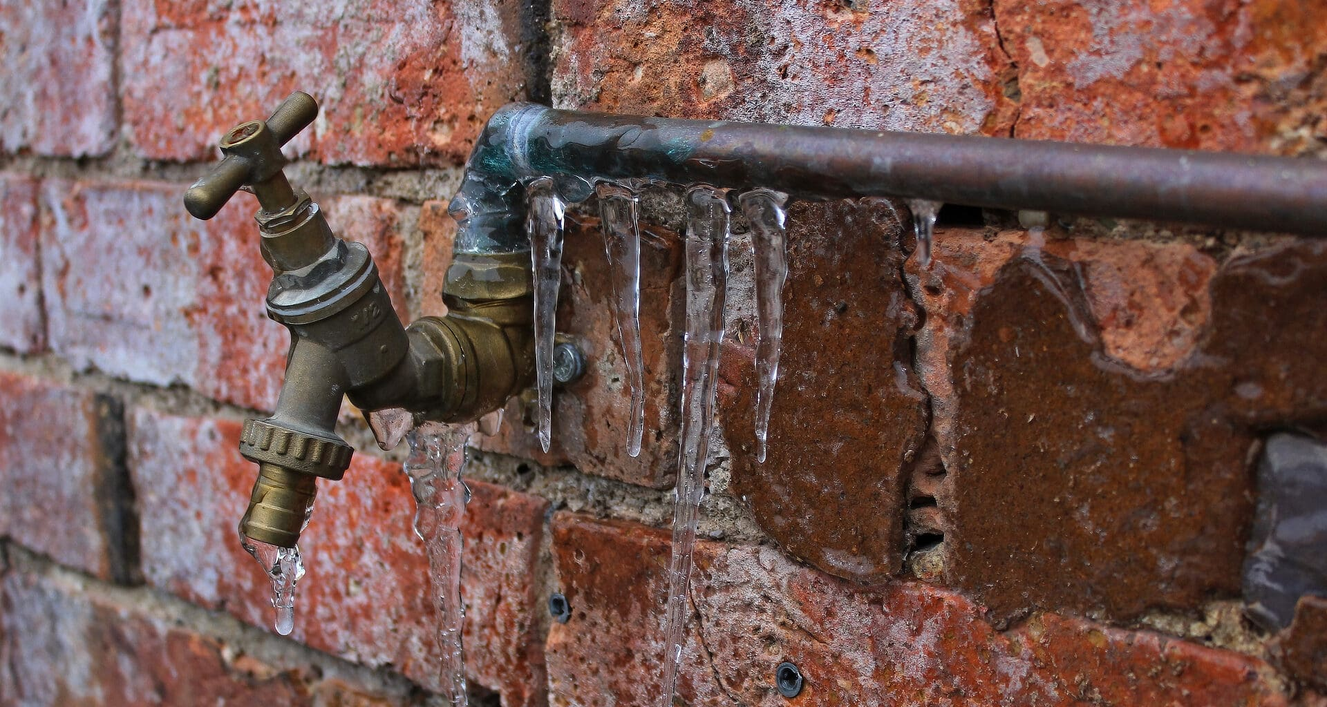 Keep from freezing with heat tape for RV water hose